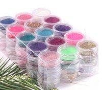 45 colori acrilico in polvere 3D nail art manicure tips chiodo di luccichio decorazione del chiodo in polvere