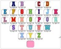 Полотенце вышивка мультфильм красочные буквы Chenille Patch Fabric Custom Seven на радуги цветов Письмо стикер лоскутное одеяло я люблю тебя DWD7269