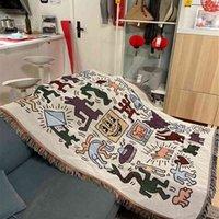 Keith haring graffiti master sofa decorative blanket outdoor camping