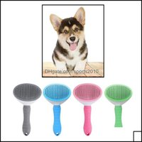 Dog Pet Supplies Home & Gardendog Slicker Grooming Brush Comb Professional Self Cleaning Button Durable Drop Delivery 2021 Rum03