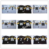 NCAA Vintage Homens Retro Top 7 Ben Roethlisberger Jersey 95 Greg Lloyd 84 Antonio Brown 86 Hines Ward 88 Lynn Swann College Football Jerseys