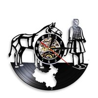 Wall Clocks Chinese Guide The Emperor To Next Life Vintage Art Clock Xian Terracotta Warriors Horse Record