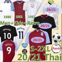 1980 81 1982 Villa Retro Soccer Jerseys Classic Vintage 2020 2021 Jersey de football d'Aston greadish Wesley McGinn Barkley Watkins Hommes + Kids