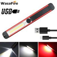 Leistungsstarke COB-LED-Arbeits-Inspektionslicht USB-Wiederaufladbare magnetische Laternen-tragbare wasserdichte 5 Modi Camping Hand