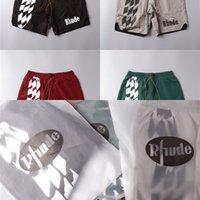 Streetwear Rhudy Racing Track Impresión de la impresión Pantalones cortos para hombres Mujeres 1: 1 Malla de verano de alta calidad de malla de malla de malla pantalones cortos de rhudo L0221