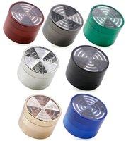 Top Window Signal Shape Forme tabacco Frantumatrici Smerigliatrici in metallo 4 pezzi 63mm in lega di zinco Grinder per fumare Accessori per fumare