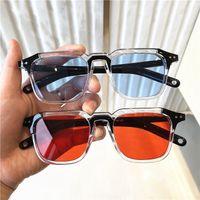 Tek Parça Şeker Renk Mavi Kare Güneş Gözlüğü Kadınlar için 2021 Lüks Tasarımcı Siyah Güneş Gözlükleri Kadın Büyük Shades Toplu 20 adet Hızlı Gemi