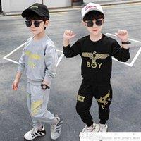 Erkek Spor Orta Çocuk Bahar İki Parçalı Suit 4 Kore Stil 5 Yakışıklı 6 Moda 8 10 Yaşlı Çocuk Giysileri