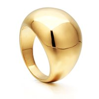 VAROLE Punk Big Smooth Ring Gold Color Lady Simple Finger Rings For Women Minimalist Anillos Fashion Jewelry Gift