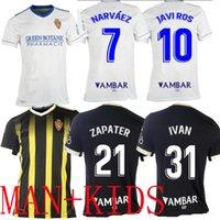 2021 2022 Real Zaragoza Fran Gamez Футбол Джерси Запатер Третье Вазкез Pombo Shinji Kagawa Футбольные рубашки Javi Ros L. Suarez Camiseta de Fútbol Men Kids Kit