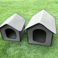 Costa plegable de mascotas a prueba de agua Cara de gato a prueba de agua Kennel Stray Litter de gato al aire libre impermeable House House House Chalet Villa Tienda