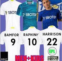 21 22 Leeds alejada de fútbol Jerseys Fans Player Version United 2021 2022 Firpo Junior Harrison Hernandez Costa Bamford Phillips Raphinha Hombres Kits Kits Camisa de fútbol Top