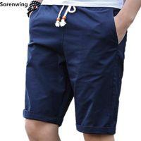 Sorenwing Shorts Мужчины Повседневная короткая мужская хлопчатобумажная мужская шорты бренда короткими мужчинами Homme Boardshorts Joggers мужская бермуда Masculina 01