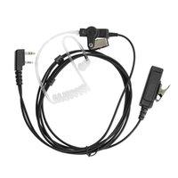 Walkie Talkie 2-Wire Earpiece Headset For KENWOOD TK2302 TK2312 TK2360 TK3400 TK3402 Two Way Radio
