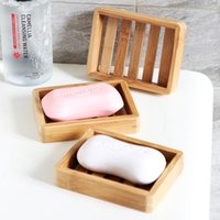 Natural bambu de sabonete de madeira prato banheiro bandeja de chuveiro lavatório lavatório banheira auto drenagem bar pratos de barra de esponja rústica stand cca7076