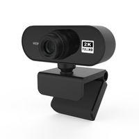 2K 자동 초점 1600P HD 웹캠 1080P 웹 카메라 라이브 브로드 캐스트 비디오를위한 마이크가있는 웹 카메라 PC 컴퓨터 주변 장치