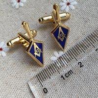 "Mason Manchetknopen 1 ""Masons Troffel Cufflink Masonic Large Shovel Square and Compass for Mens T-shirt Accessoire"
