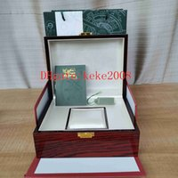 Горячие продажи верхних качеств ящики Оригинальные документы Красная деревянная коробка сумка 20 мм х 16 мм для 15400 15710 15500 15202 26320 Смотреть наручные часы