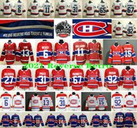 2021 Retro Retro Canadiens de Montréal 31 Carey Prix 6 Shea Weber 11 Brendan Gallagher 13 Max Domi 15 Kotkaniemi 92 Jersey de hockey Drouin