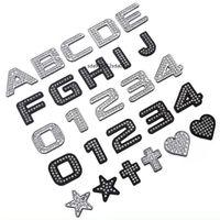 Crystal Styling Crystal Diamond Letter Stickers Metal Nombres Autocollants de voitures English Décoration Accessoires pour VW BMW AMG BYD HONDA