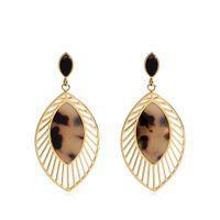 Varole Hohlblatt Tropfen Ohrringe für Frauen Modeschmuck Baumeln Lange Ohrring Große Ohrringe Boucle d'oreille femme
