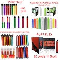 Puff Flex Plus Bang XXL Geek Bar Disposable E cigarettes Pod Device 575 800 2000 2800 Puffs Prefilled Cartridge Vape Pen VS Gunnpod Randm Dazzle Pro