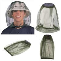 안티 모기 모자 여행 캠핑 경량 미드 게 모기 곤충 모자 버그 메쉬 헤드 그물 얼굴 보호자 RRD7516