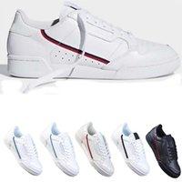 Mens Baixa Corte FW5325 Continental 80 Sapatos Casuais Cinza OG Core Black Triple Branco Gold Men Mulheres Moda Sapato EUR 40-45