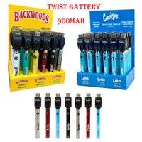 Biscotti Backwoods Display Display Battery Caricabatterie USB Blister Kit 900mAh VA variabile VV con scatola 30pcs Pack