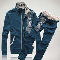 Простая осень и зима новый мужской свитер костюм модный бренд досуг костюм мужской интернет магазин
