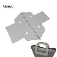Tanqu PU-Leder Klassischer Mini-Reißverschluss Top-Straße False Innenfutter-Einsatz für Obag Standard Mini O-Tasche Frauen Handtasche Zubehör 210306