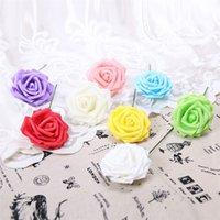 25 Kafaları 8 CM Yeni Renkli Yapay PE Köpük Gül Çiçekler Gelin Buket Ev Düğün Dekor Scrapbooking DIY Malzemeleri 517 R2