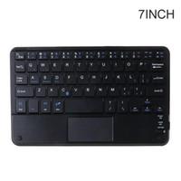 Teclados de 7/9/10 pulgadas Teclado liviano Bluetooth inalámbrico con tableta táctil Tablet Portátil Viaje portátil Oficina de la casa