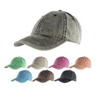 봄 새로운 스타일 데님 패브릭 포니 테일 모자 8 색 피크 야구 모자 최신 거리 야외 스포츠 부드러운 조류 태양 모자