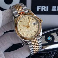 Single Calendrier Mécanique Mechanical Watch 41mm Diamond Automatique Plaque d'épissure de mouvement Tout Acier inoxydable 2813 Étanche Scratch Professional