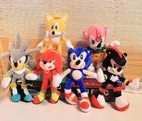 Sonic Boneca de Pelúcia Brinquedos Festa Favor 25-30cm Soft Brinquedo De Brinquedo De Brinquedo Bonecas Para Crianças Presente De Natal