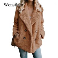 Kış Ceketler Kadınlar Kabarık Teddy Ceket Yaka Uzun Kollu Ceket Sıcak Kıllı Ceketler Kadın Artı Boyutu 5XL Palto Chaqueta Mujer1