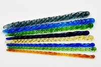 8 pezzi Pyrex Glass Spiral Spiral Pene Pene Uretrale Dilatatore Stretching Plug Set Catetere Sound Stimolante Inserire il giocattolo del sesso per gli uomini gay