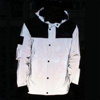 망 재킷 반사 컬러 방수 윈드 브레이커 코트 남성 겉옷 스타일리스트 편지 인쇄 사이클링 유니폼 남성 패션 캐주얼 재킷 크기 M-3XL JK2108