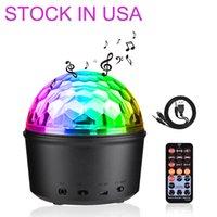 Bluetooth Speaker Strobe Party Lights, USB-driven nattlampa LED-effekter, 9 färger Ljud aktiverat scenlampa med fjärrkontroll för barn sovrum julklapp