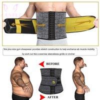 Lanfei الساخن الخصر المدرب النيوبرين الرجال الجسم المشكل البطن السيطرة حزام ساونا التخسيس حزام اللياقة البدنية العرق ملابس داخلية للدهون الموقد