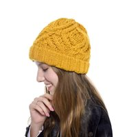 Winter Women Hat New Autumn Handmade Female Warm Cap Knitted Beanie Woman Bonnet Femme Chunky Thick Stretchy Hats FWF11285