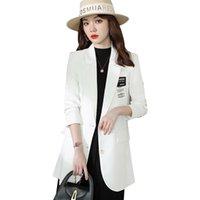 Women's Suits & Blazers Fashion Ladies White Blazer Women Jacket Long Sleeve Work Wear Business Beautician Office Uniform Styles