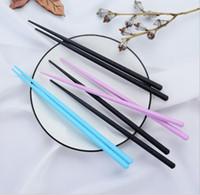 Японские суши Hashi палочки для палочек длинного сплава палочки бытовые кухни антимонабрь черные палочки Chop 100pair / lot dhl бесплатная доставка