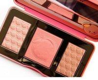 В наличии Персиковое свечение 3 цвета Blush Powder Blusher Eye Shadow Bronzers подчеркивает палитру макияжа