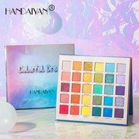 Long-Lasting HANDAIYAN Colorful Dream Eye Shadow Cosmetics 30 Colors Matte & Shimmer Pressed Powder Rainbow Palette Makeup Brighten Your Eyes DHL Free