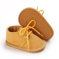 Athletic & Outdoor Autumn Baby Lace Up Sneakers Anti-slip Prewalkers Soft Rubber Sole Girls Boys Solid Infant Shoes 0-18M