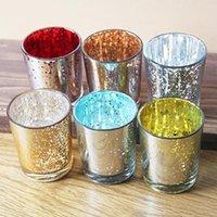 Современный простой стеклянный держатель свечи звезды свечей чашки бар западный ресторан реквизит украшения ремесел украшения 6 цветов OWB8198