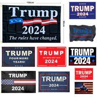 ABD hisse senedi seçimleri afiş başkan Donald Trump Seçim bayrakları 2024