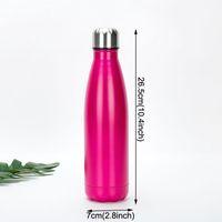 Sublimación de regalo 17oz Botella de cola portátiles 500 ml Botellas de agua de acero inoxidable de acero inoxidable de doble pared Frascos aislados de doble pared VTKY2246